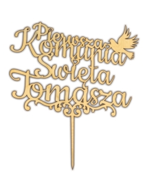Topper na tort komunia święta Lublin