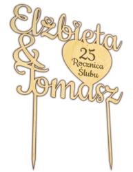Topper na tort rocznica ślubu Lublin