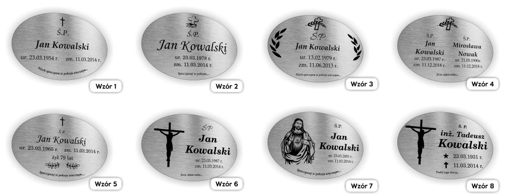 WZORY TABLICZKA NAGROBKOWA tabliczka na pomnik