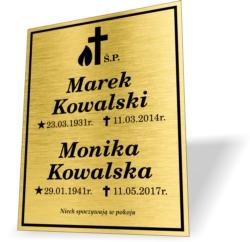 TABLICZKA NAGROBKOWA tabliczka na pomnik